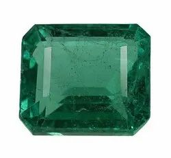 Cut Super Fine Genuine Zambian Emerald Stone