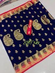Mango Border Kanchivaram Rich Pallu Design Sarees