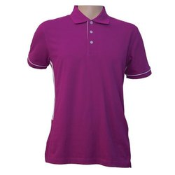 Plain Half Sleeve Purple Ladies Collar Corporate T-Shirts