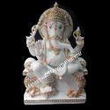 5 Feet Marble Ganpati Statue