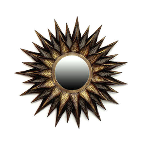 Sun Mirror Wall Decor Iron Handicraft