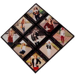 Nine Photo Wood Frame