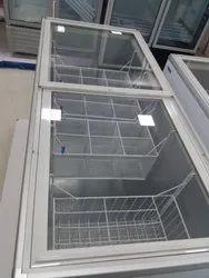Blue Star White Glass Top 500 Ltr Deep Freezer