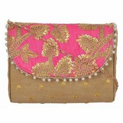 Azzra Pink Clutch Ladies