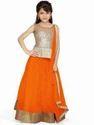 Orange Net, Georgette Beautiful Lehengas For Your Kids