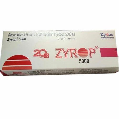 ZYROP 5000 IU Erythropoietin Injection