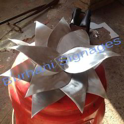 Aluminium Hand Crafted Lotus Flower Burhani Signages Indore Id