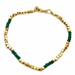 Nugget Bracelet Beautiful Adjustable Gold Plated Simple Silver Nugget Bracelet