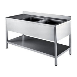 Stainless Steel Table Double Sink