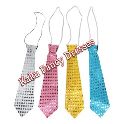 Kaku Fancy Dresses Polyester Multicolour Tie for Party