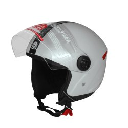 JMD Grey Grand Half Face Helmet