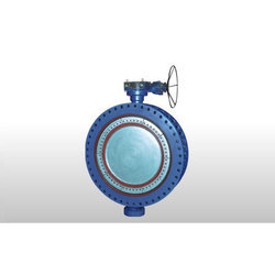 Gear Operated MS Fabricated Double Flange Butterfly Valve