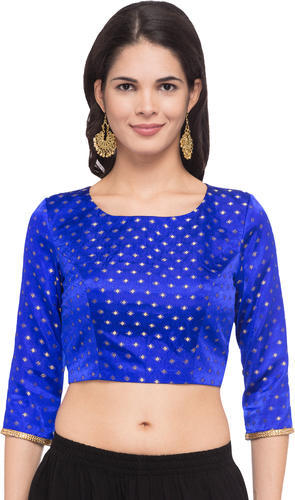 49aa2f95e0 Dobby Print Elbow Sleeve Royal Blue Readymade Blouse, Rs 1299 /piece ...
