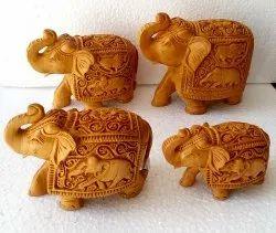 Wooden Carving T/D Elephant Set