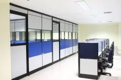 Ivory And White Glass Office Cubical Partition and Aluminium partition