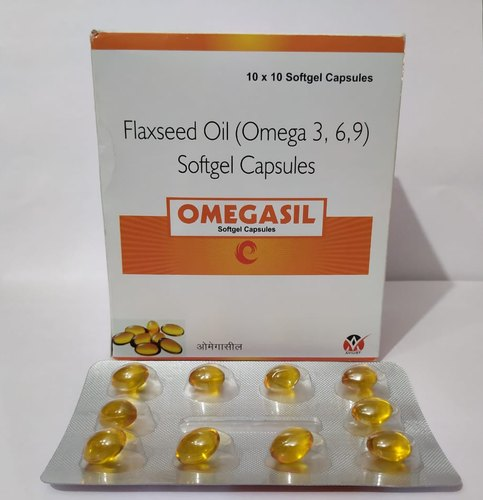 Flaxseed Oil Soft Gel Capsule, Packaging Type: Blister
