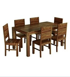 IWC Natural & Walnut Dining Table