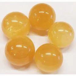 Yellow Calcite Ball Stone Ball, For vastu