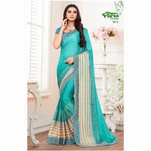 710230e5fb5 Paree Creation Silk Printed Daily Wear Saree