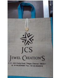Printed Jute Shopping Carry Bag