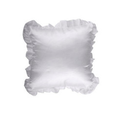 Square Satin Pillow Frill Cover