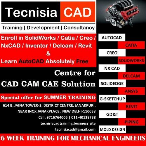 6 Weeks Training for Mechanical Engineer in Janakpuri, New
