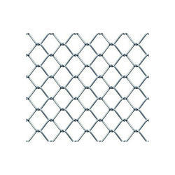Gi Silver Twisted Chain Link Fencing, Wire Diameter: 2.0-4.0mm, Packaging Type: Roll