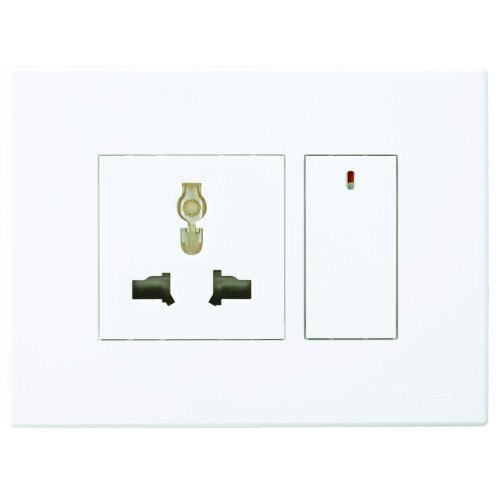 Wipro North West Platia Premium Flat Switches, Switch Size: 1 Module And 2 Module