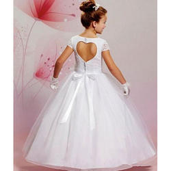 White Georgette And Net Designer First Holy Communion Dresses