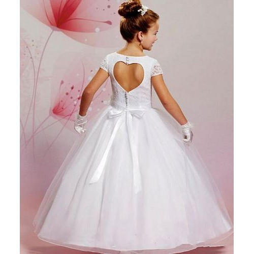 cf48e26c286 White Georgette And Net Designer First Holy Communion Dresses