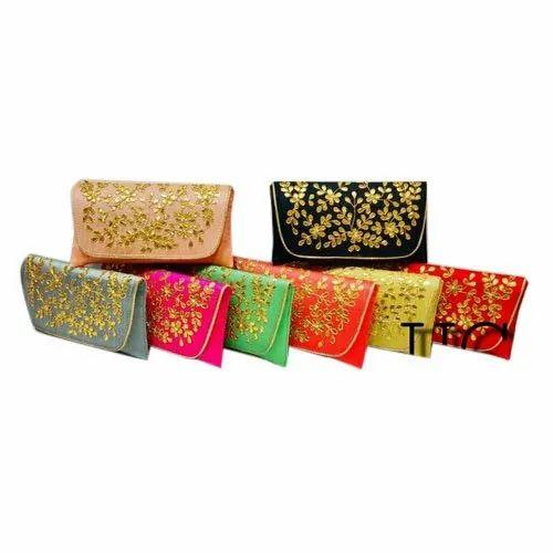 "Silk Ladies Handmade Sling Hand Bags, Size: 12"""
