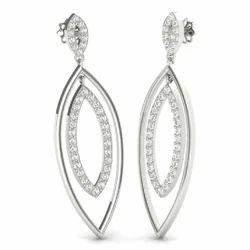 Zevrr 92.5 Sterling Silver Drop Earrings For Female