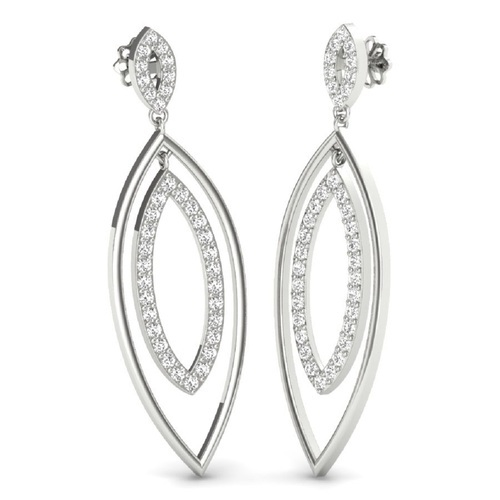 8c0f1afb5 92.5 Sterling Silver Drop Earrings For Male - Sukhmani Fashions, New ...