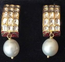 Party Wear Kundan Pearl Earrings