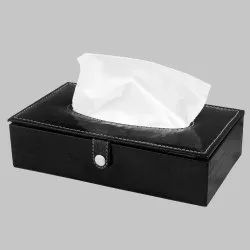 Black Rectangular Tissue Box