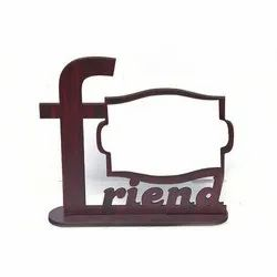 Wooden Brown Friends Photo Frame for Gift