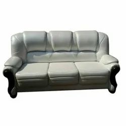 White Leather 3 Seater Sofa, Rs 11000 /set, Excellent Furniture | ID ...