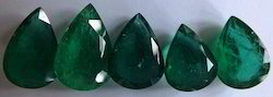 Dark Green Pear Shaped Emerald Gemstones Cabs