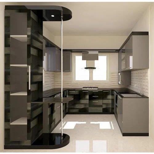 Modern U Shaped Modular Kitchen Cabinet Rs 1500 Square Feet