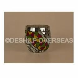 Decorative Mosaic Votive Holder