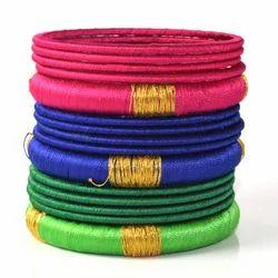 Multicolor Indian Handmade Silk Thread Bangles Bracelets