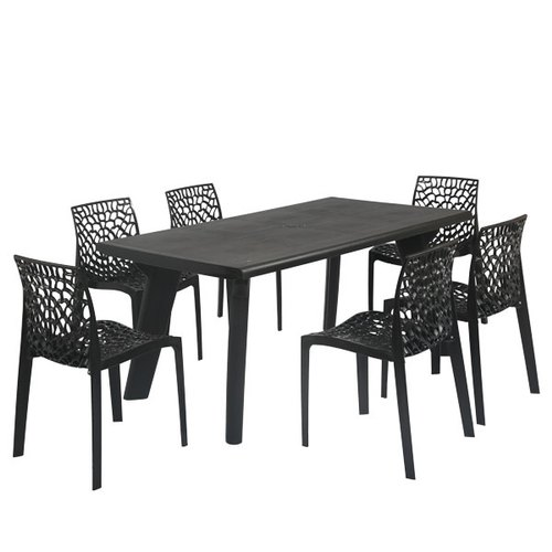 Supreme Bison Six Seater Dining Table Set