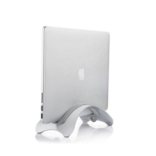 Aluminum Alloy Vertical Laptop Desk Stand Rack Tray For Macbook Air
