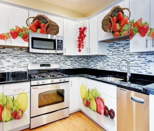 Modular Kitchen Designs Catalogue: Param Fruits And Vegetable Image Acrylic Modular Kitchen