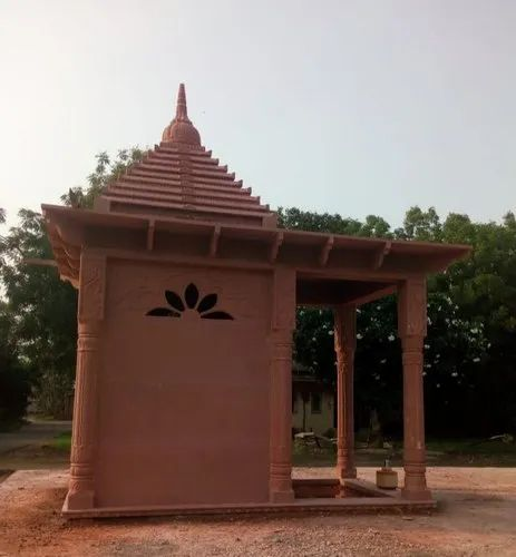 Simple Red Temple with Floor