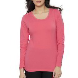 Ladies Plain Pink Top