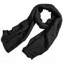Casual Wear Plain Black Cotton Stole