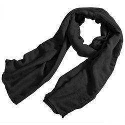 Casual Wear Plain Black Cotton Stole