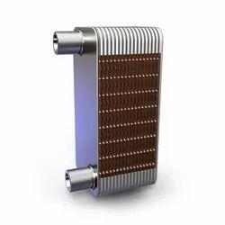 Asymmetric Brazed Plate Exchanger