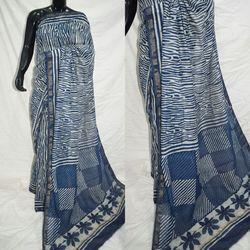 Chanderi Block Printed Saree